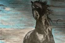 Jakub Komínek se věnoval hudbě i malování. Nedlouho před náhlou smrtí vytvořil obraz vzpínajícího se neklidného koně.