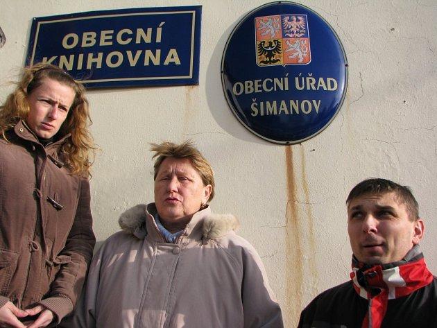 Dnes už bývalé vedení obce Šimanov