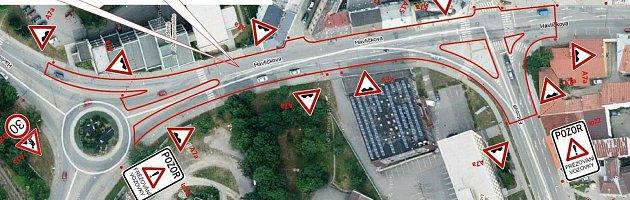V tomto úseku se bude silnice modernizovat.