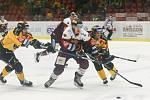 Utkání 4. kola skupiny o umístění v hokejové extralize: HC Dukla Jihlava - HC Verva Litvínov.