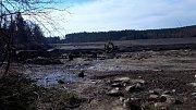 Vypuštěný Velký Pařezitý rybník.