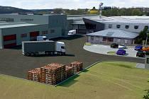 Viualizace. Takto vypadá vizualizace nové haly, kterou  jihlavská společnost Dafe-plast v současné době buduje v Polné. Celková výrobní plocha po rekonstrukci a výstavbě zabere zhruba 7 a půl tisíce metrů čtverečních.