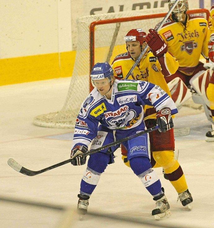 Z hokejového utkání Dukla - Kometa.