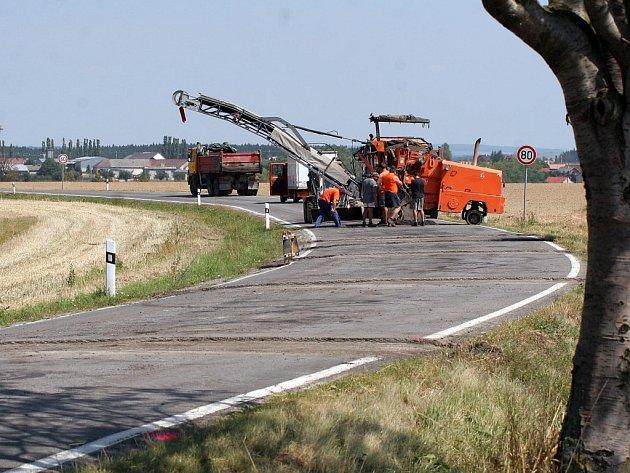 Uzavírka silnice z Jihlavy na Polnou.