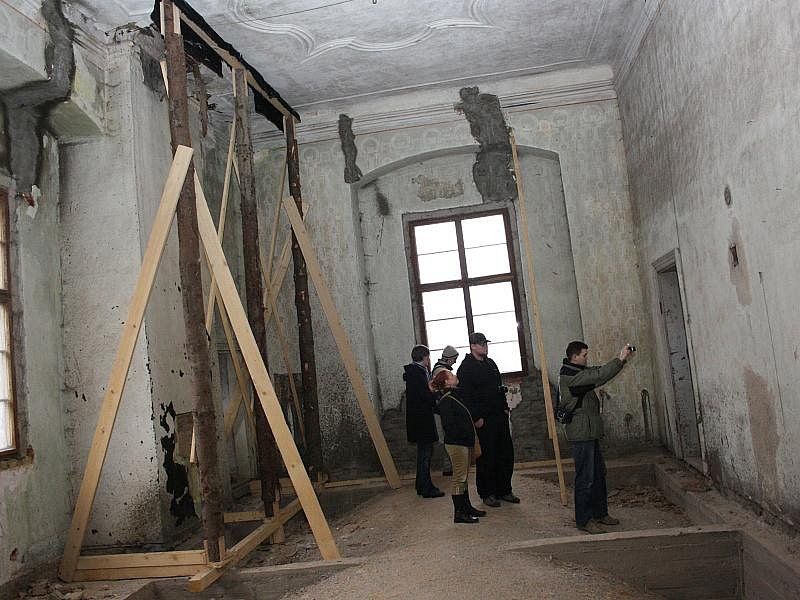 V jednom ze třech největších sálů brtnického zámku musí být stropy podepřené dřevěnými kůly. Dřevomorka  je totiž noční můra místního kastelána. Doslova požírá zámek zaživa.