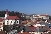 Pohled na historické jádro Brtnice.