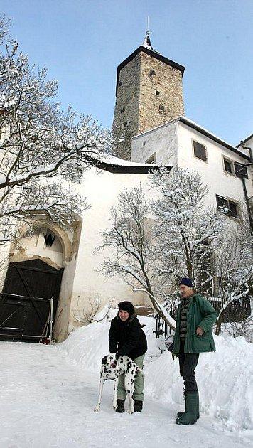 Na hradě Roštejn.