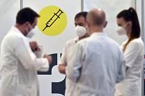 Očkovací centrum v Pelhřimově.