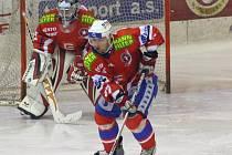Odchovanec českobudějovického hokeje Milan Gulaš loni odehrál třináct zápasů za prvoligovou Horáckou Slavii Třebíč.