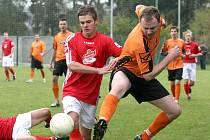 Každý okresní fotbalový svaz by měl během první poloviny letošního roku obdržet kolem osmi set tisíc korun, které se z převážné většiny budou rozdělovat mezi jednotlivé kluby. Ilustrační foto.