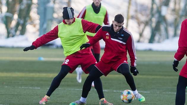 První trénink zimní přípravy FC Vysočina Jihlava.