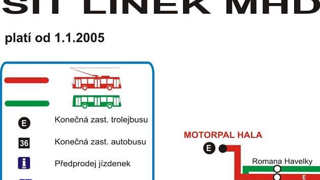 Na webu jihlavské MHD nové schema nenajdete.