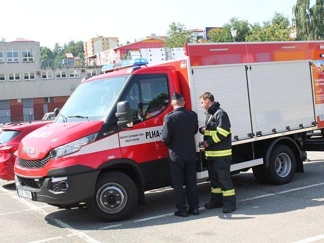 Představení nového hasičského auta