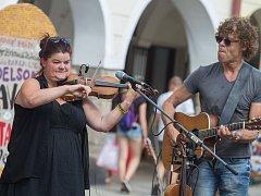 Hudební skupina Tradish Aurelius Q. na Prázdninách v Telči.