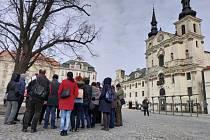 Prohlídka v centru Jihlavy, které se uskutečnila v sobotu 23. února.