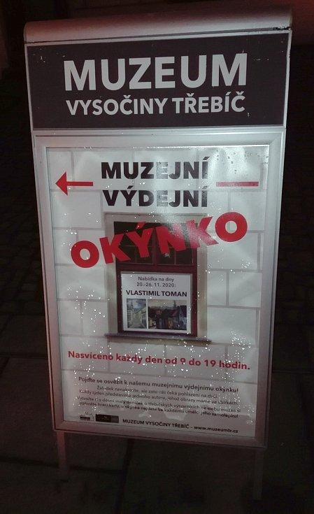 Muzejní výdejní okýnko v Třebíči.