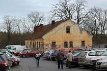 Místo v Křížové ulici v Jihlavě, kde má vzniknout šatlava
