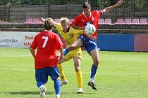Starší dorostenci Jihlavy (ve žlutém) naposledy uspěli v Plzni. Následné tři zápasy v řadě si bodově nepolepšili. S prázdnou přijeli i ze hřiště Slovácka.
