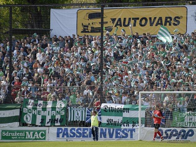 Zaplněný Ďolíček. Fotbalisty Jihlavy čeká ve Vršovicích jedno z nejfotbalovějších prostředí v Česku.