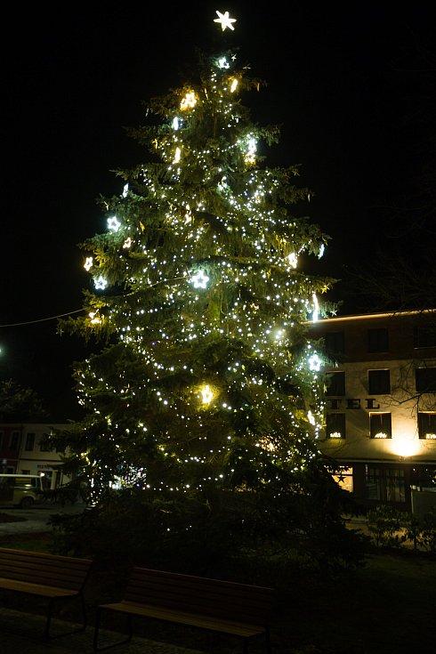 Vánoční strom v Chotěboři.