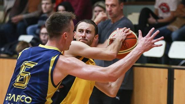 Utkání basketbalové 1. ligy mezi BC Vysočina a BK Opava B.
