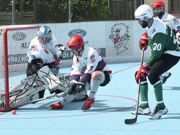 Záloha jihlavských hokejbalistů dvakrát v Malenovicích prohrála a tím se připravila o možnost obhájit loňský titul.