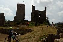 Zřícenina hradu Rokštejn je přístupná veřejnosti.
