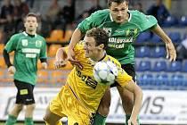 Z fotbalového utkání FC Vysočina Jihlava - FK Baník Sokolov.