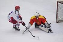 Hokejisté Telče (v bílém) by si ještě rádi v této sezoně zahráli, klidně alespoň přátelské utkání.