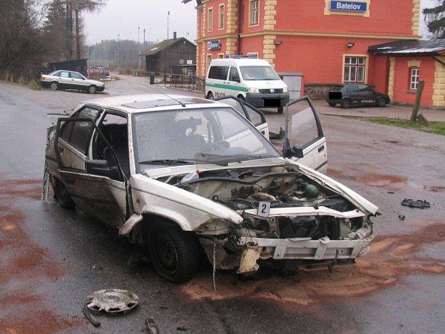 V Batelově na Jihlavsku došlo k dopravní nehodě osobního vozu Citroën.