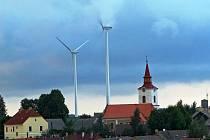 Větrné elektrárny nad Pavlovem na Jihlavsku