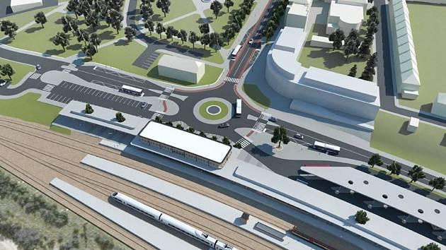 Vybudování dopravního terminálu zásadně změní ráz městského vlakového nádraží.