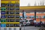 Ceny pohonných hmot na čerpací stanici Tank ONO v sobotu 4. dubna 2020 v Jihlavě.
