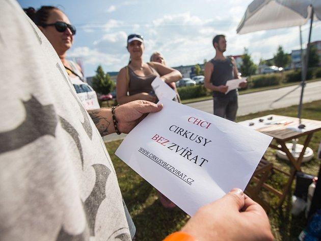 Tichá demonstrace - Chceme cirkusy bez zvířat.