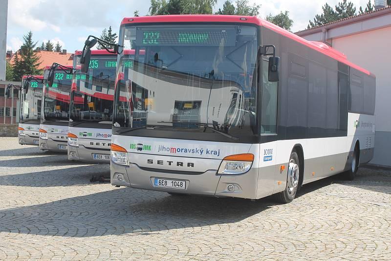 Autobusy z Vysočiny. Ilustrační foto.