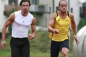 Sprinterský trojboj byl jedním z lákadel Velké ceny Jihlavy. Nejrychlejším sprinterem byl Pavel Jiráň.