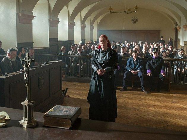 Z natáčení filmu o Anežce Hrůzové.