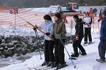 Situace na vrchu Šacberk v neděli 28. prosince odpoledne