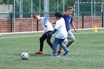 Utkání se konalo na hřišti s umělým povrchem vedle třešťského fotbalového stadionu.