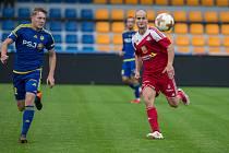 Mezi fotbalisty FC Vysočina Jihlava ani FC Velké Meziříčí (na snímku ze vzájemného přípravného utkání) po losu MOL Cupu velké nadšení nezavládlo.