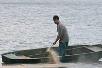 Rybáři v letních měsících provádí většinou různé opravy a údržby. Při současné teplotě vody se nedají ryby dlouho sádkovat, proto se odchytávají většinou na zakázku, například pro obchodníky nebo sportovní organizace. Ilustrační foto.