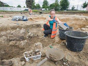 Archeologický průzkum Na Dolech v Jihlavě.