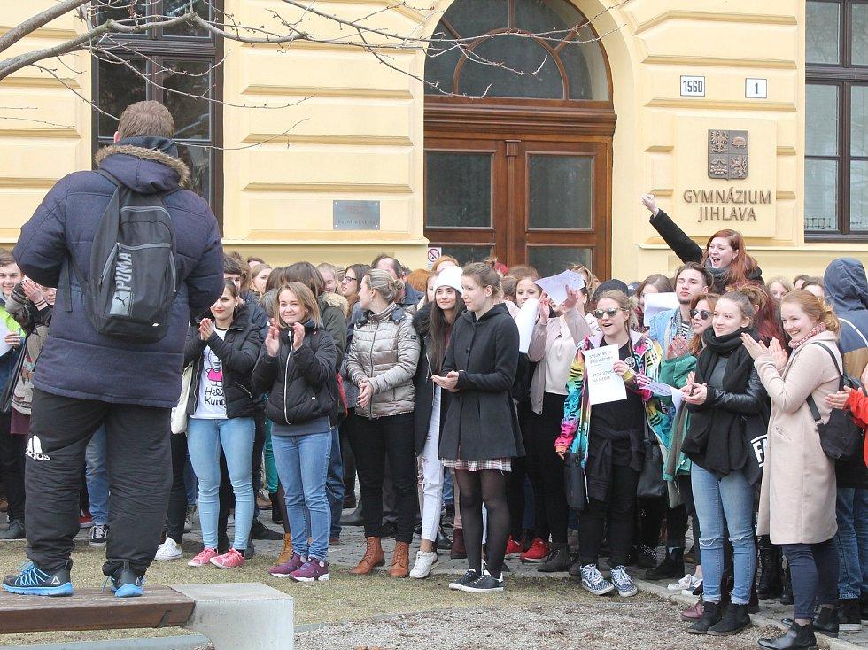 Protesty studentů v Jihlavě.