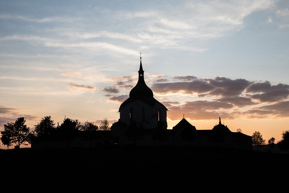Poutní kostel sv. Jana Nepomuckého na Zelené hoře.