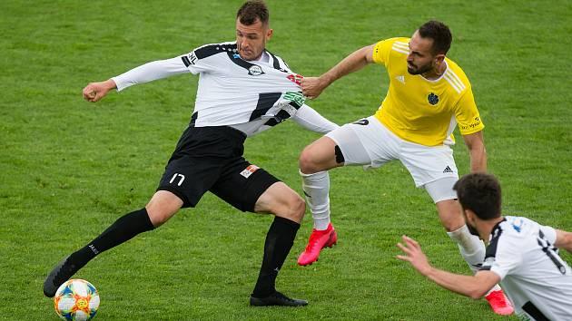 Fotbalové utkání 21. kola FNL mezi FC Vysočina Jihlava a FC Hradec Králové.