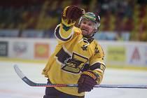 První kolo hokejové Chance ligy mezi HC Dukla Jihlava a SK Trhači Kadaň.