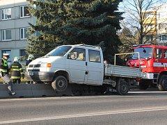 Nehoda na Okružní ulici v Jihlavě.