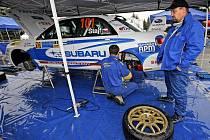 Osmý ročník Rallye Vysočina ovládl v Telči Vojtěch Štajf se spolujezdcem Jiřím Černochem a vozem Subaru Impreza WRX STi.