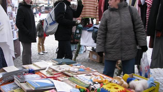 Adventní bazárek na Masarykově náměstí v Jihlavě