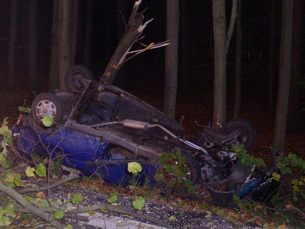 Tragickou nehodu nepřežily ženy na zadním sedadle.